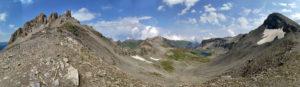 Вид с перевала Федосеева в сторону долины Агур-Кяфар.